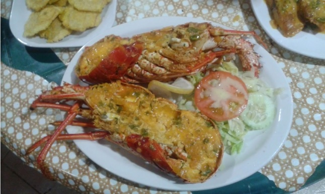 Whole Lobster in a zesty Creole Caribbean Sauce