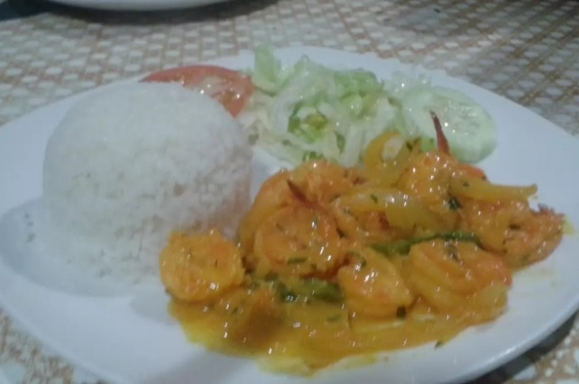 Shrimp in zesty Creole Caribbean Sauce